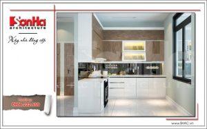 Thiết kế nội thất phòng bếp nhỏ gọn thuận tiện SH BTD 0048