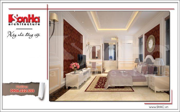 Thiết kế nội thất phòng ngủ hiện đại ấm áp