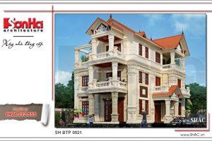 Thiết kế biệt thự Pháp sang trọng tại Quảng Ninh sh btp 0021