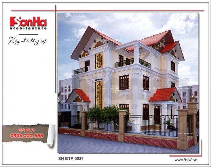 Biệt thự 3 tầng tân cổ điển tại Thanh Hóa BTP 0037