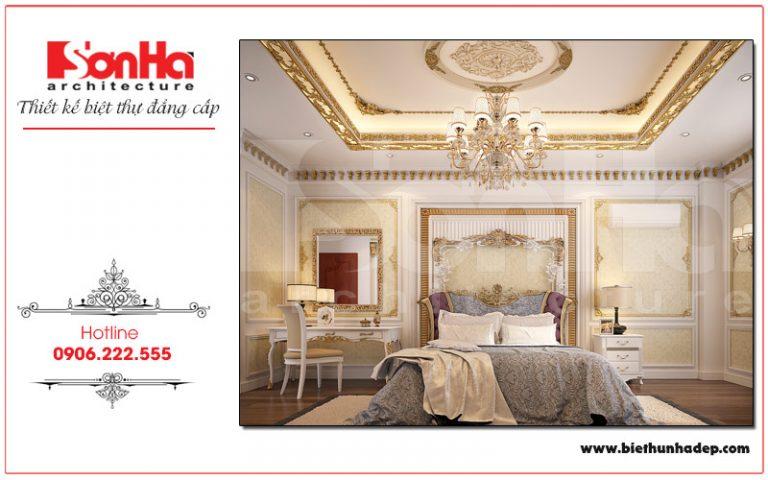 Mẫu thiết kế nội thất phòng ngủ biệt thự cổ điển được yêu thích nhất