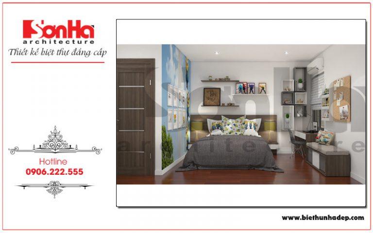 Thêm một mẫu thiết kế phòng ngủ biệt thự hiện đại đẹp, tỉ mỉ qua từng chi tiết
