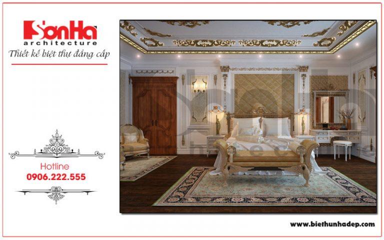 Mẫu phòng ngủ cổ điển với màu sắc hài hòa và thiết kế vô cùng tinh tế thực sự là không nghỉ ngơi, thư giãn tư lý tưởng của gia chủ