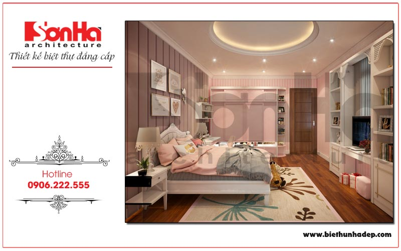 Mẫu nội thất phòng ngủ được thiết kế dành riêng cho con gái gia chủ