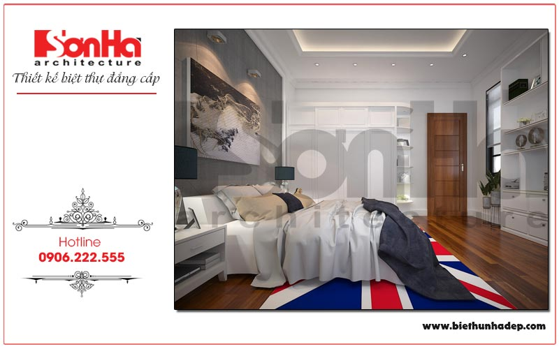Mẫu phòng ngủ được thiết kế theo gu thẩm mỹ riêng của chủ nhân căn phòng