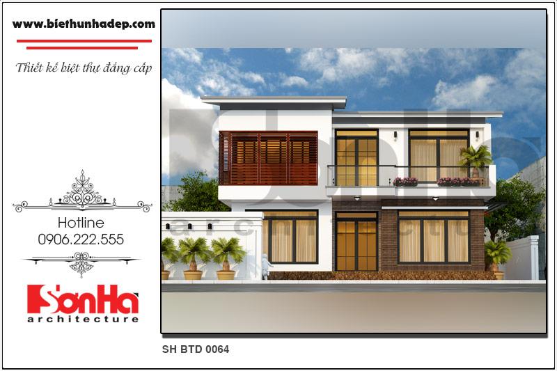 BÌA mẫu thiết kế biệt thự hiện đại đẹp tại hải phòng sh btd 0064