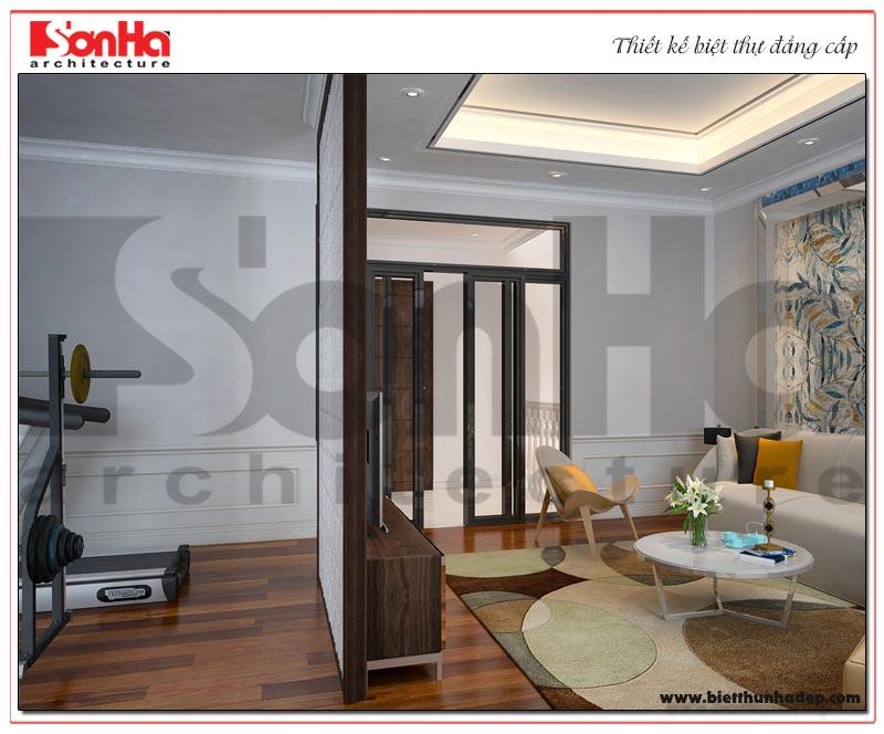 Phương án thiết kế nội thất phòng tập của biệt thự phân khu Paris