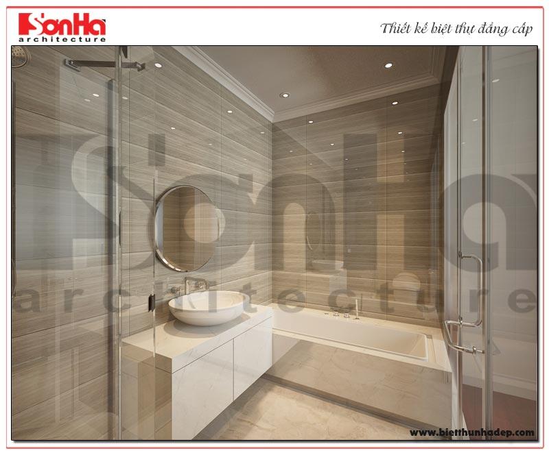 Mẫu thiết kế nội thất phòng tắm – WC biệt thự tân cổ điển KĐT Vinhomes Imperia Hải Phòng
