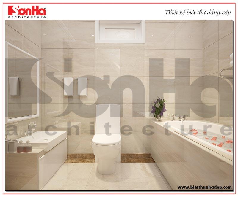 Mẫu nội thất phòng tắm đảm bảo yếu tố tiện nghi khi sử dụng