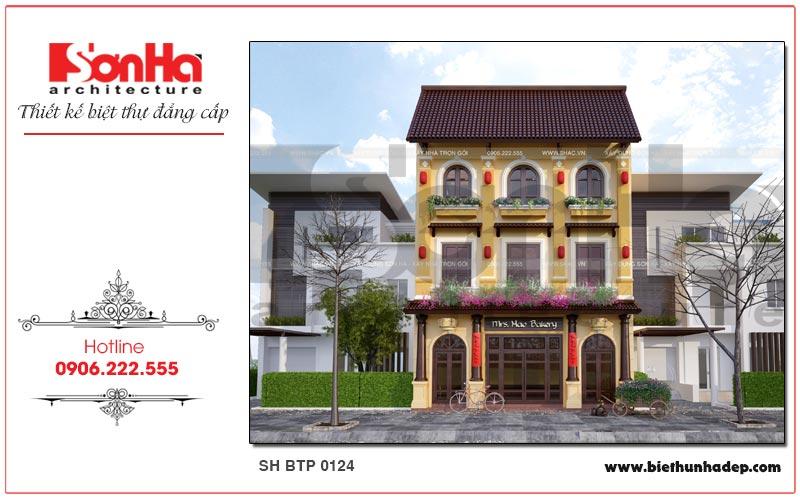 Mẫu biệt thự 3 tầng kiến trúc pháp kết hợp kinh doanh tại Quảng Ninh mang thương hiệu SHAC uy tín