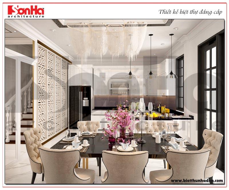 Căn phòng bếp với thiết kế tiện nghi và tinh tế chinh phục sự hài lòng tuyệt đối của gia chủ