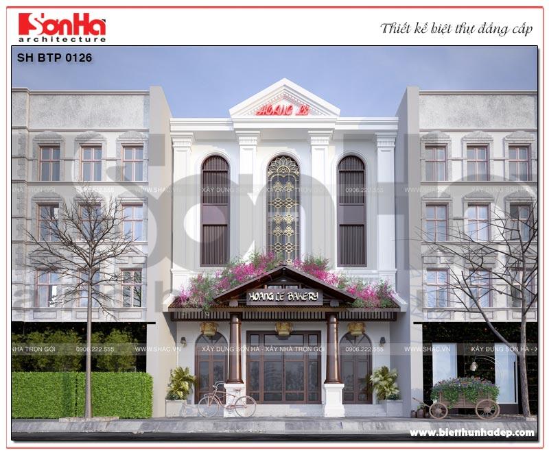Thêm một phương án thiết kế kiến trúc biệt thự kết hợp kinh doanh 3 tầng phong cách Việt