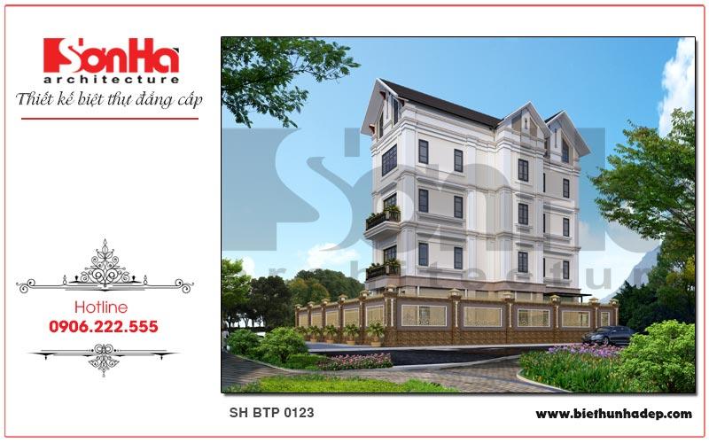 Biệt thự tân cổ điển 4 tầng tại Hải Phòng nổi bật và thu hút ở mọi góc quan sát