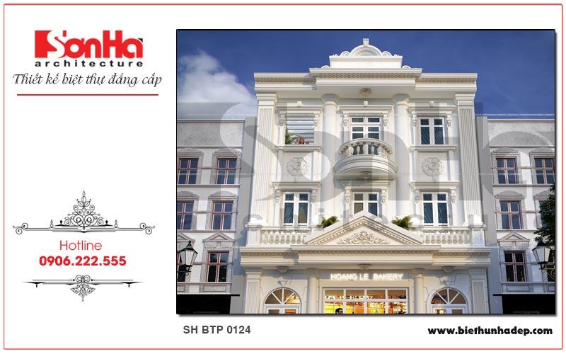 Cận cảnh từng đường nét kiến trúc mặt tiền biệt thự pháp cổ 3 tầng tại Quảng Ninh