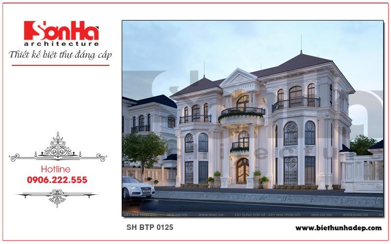 Thiết kế biệt thự tân cổ điển 3 tầng tại Hải Phòng ấn tượng từ mọi góc đặt mắt