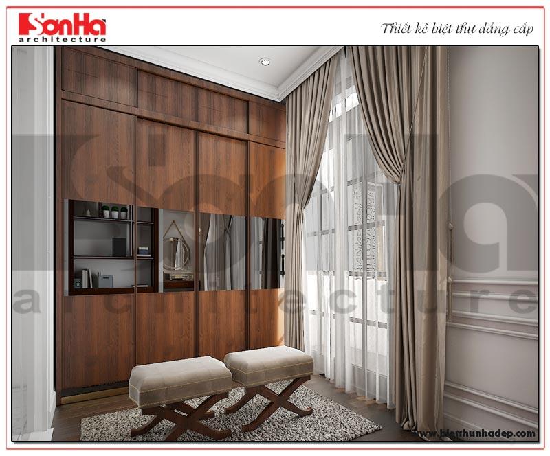 Phương án thiết kế nội thất phòng thay đồ biệt thự đơn lập 3 tầng KĐT Vinhomes Imperia