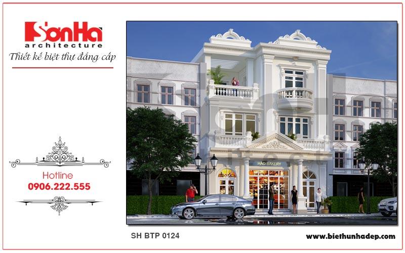 Ngôi biệt thự pháp 3 tầng sở hữu mặt tiền rộng 9m được thiết kế sang trọng, tinh tế