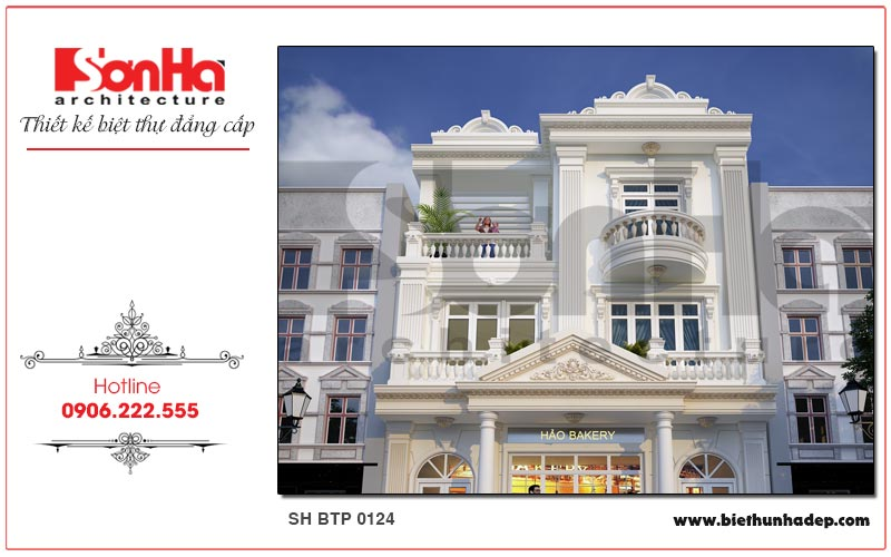 Vẻ đẹp kiến trúc mãn nhãn mà các KTS Sơn Hà mang đến cho ngôi biệt thự pháp 3 tầng