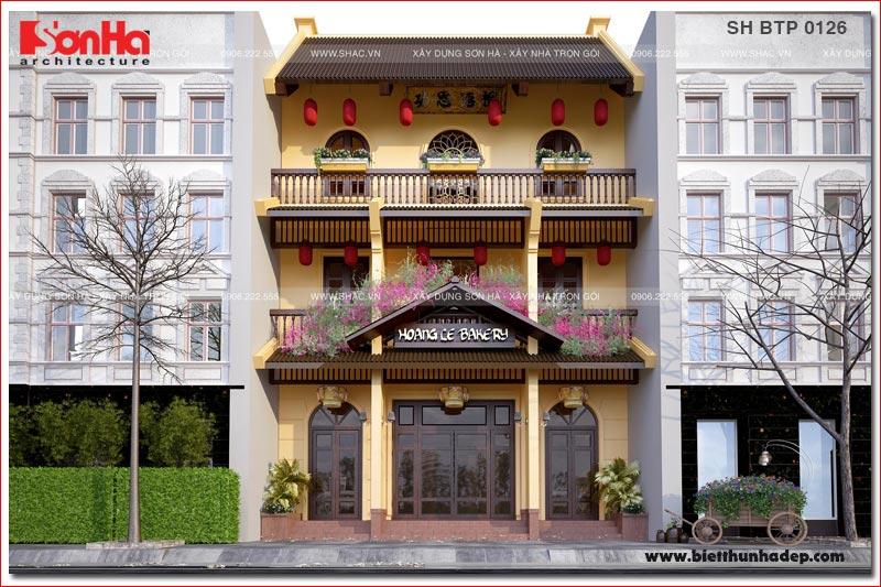 BÌA Thiết kế biệt thự cổ điển kết hợp kinh doanh mặt tiền 9m tại quảng ninh sh btp 0126