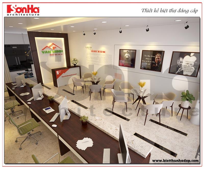 Mẫu thiết kế nội thất văn phòng hiện đại kết hợp nhà ở gia đình khoa học tại KĐT WaterFront City Hải Phòng