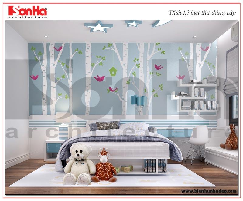 Thiết kế nội thất phòng ngủ cho con với gam màu cá tính phù hợp với sở thích của trẻ