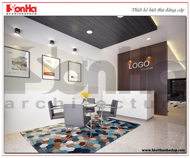 Khu vực sảnh lễ tân của dự án với thiết kế nội thất hiện đại nhất hiện nay