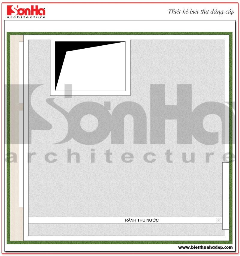 Chi tiết quy hoạch công năng tầng 3 biệt thự hiện đại mini diện tích sàn 64m2 tại Hải Phòng