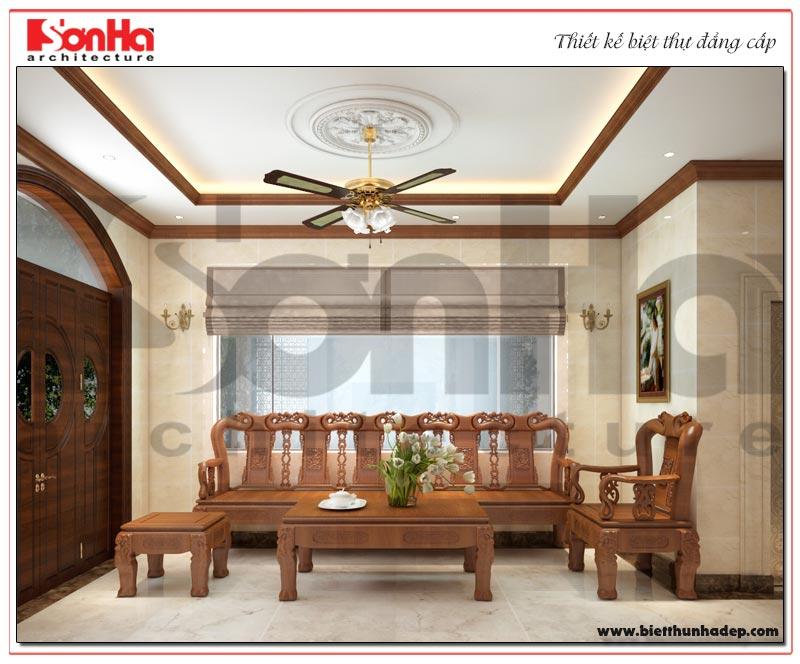 Thiết kế nội thất phòng khách biệt thự Vinhomes đơn giản nhưng vô cùng tinh tế và ấn tượng