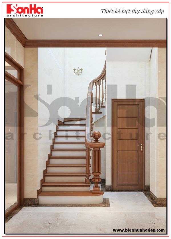 Mẫu nội thất sảnh thang biệt thự được chủ đầu tư và gia đình đánh giá cao