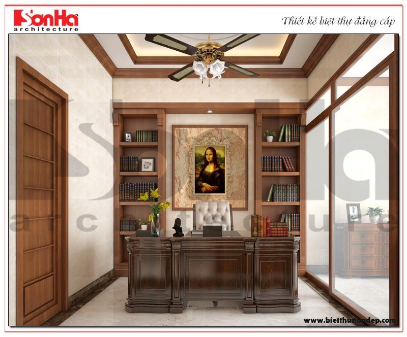 Phương án thiết kế nội thất phòng làm việc biệt thự Vinhomes Imperia