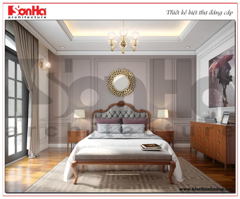 Ý tưởng thiết kế nội thất phòng ngủ tiện nghi mang đến những giờ phút nghỉ ngơi lý tưởng cho vợ chồng CĐT