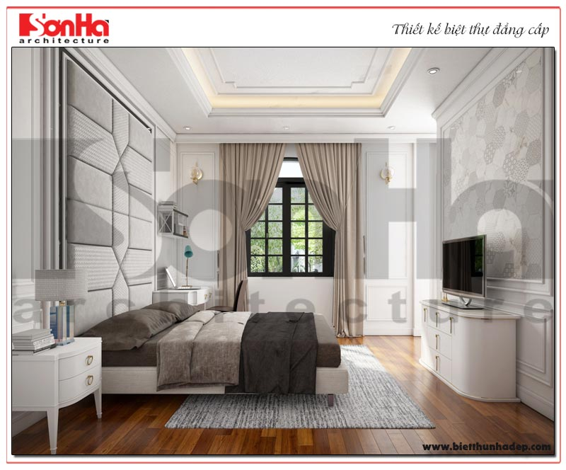 Căn phòng ngủ với thiết kế nội thất đơn giản nhưng ưu tiên tính tiện dụng cho gia chủ