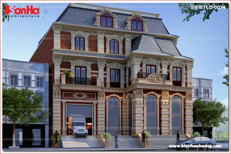 BÌA mẫu thiết kế biệt thự tân cổ điển kiểu pháp tại sài gòn sh btp 0131