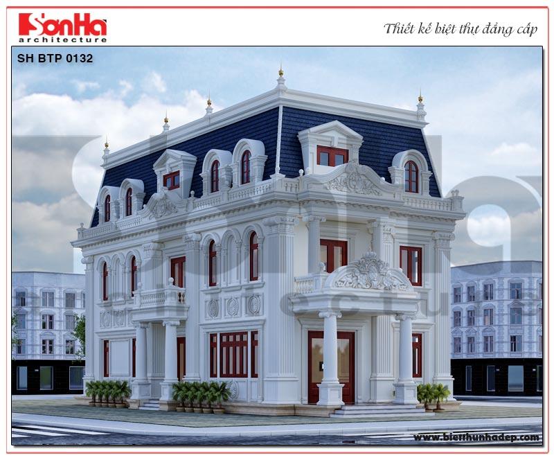 Mẫu thiết kế biệt thự 3 tầng diện tích 231,9m2 mang phong cách tân cổ điển Pháp chủ đại sang trọng và tiện nghi tại Hà Nội