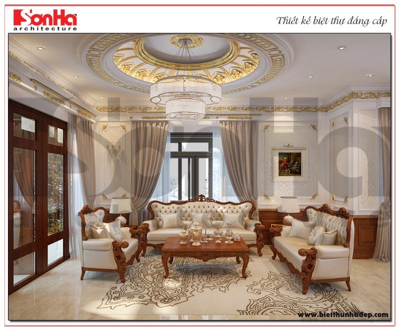1 Thiết kế nội thất phòng khách tân cổ điển biệt thự khu đô thị Senturia Vườn lài An Phú Đông sài gòn