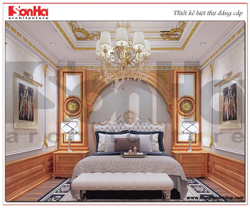 Bố trí nội thất phòng ngủ ngăn nắp, hài hòa tạo sự thuận tiện cho gia chủ