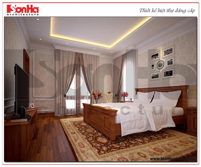 Thiết kế ấn tượng của mẫu nội thất phòng ngủ phong cách tân cổ điển đẹp mắt của SHAC