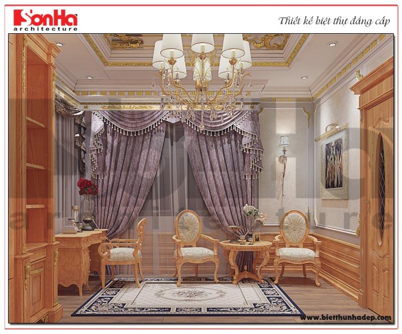 Thiết kế nội thất phòng ngủ master biệt thự tân cổ điển cao cấp tại Sài Gòn