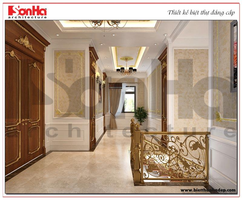 Mẫu nội thất sảnh thang được chủ đầu tư và gia đình đánh giá cao