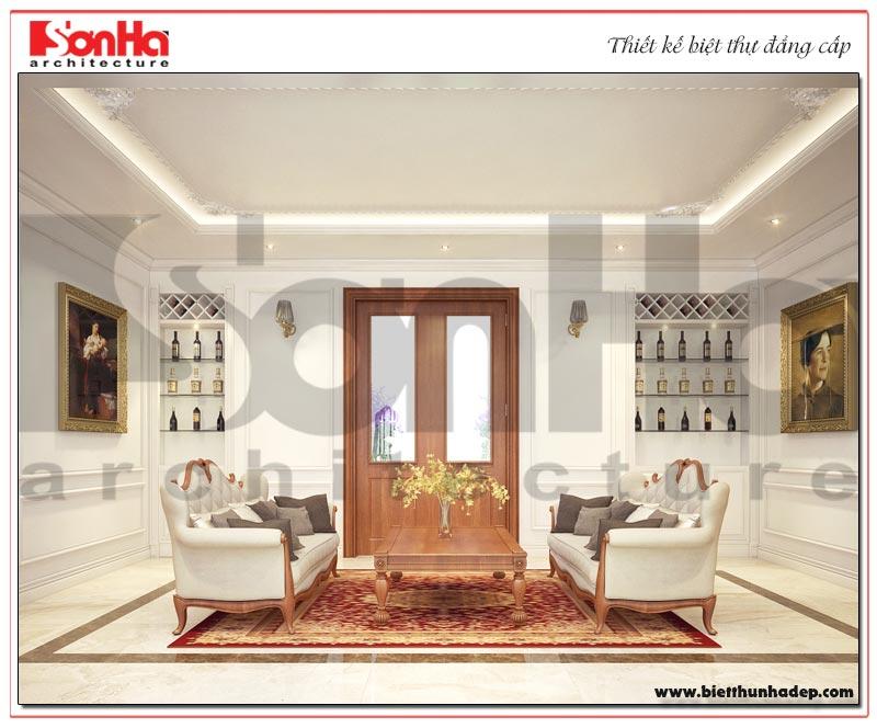Thiết kế nội thất phòng sinh hoạt chung sang trọng và ấm cúng
