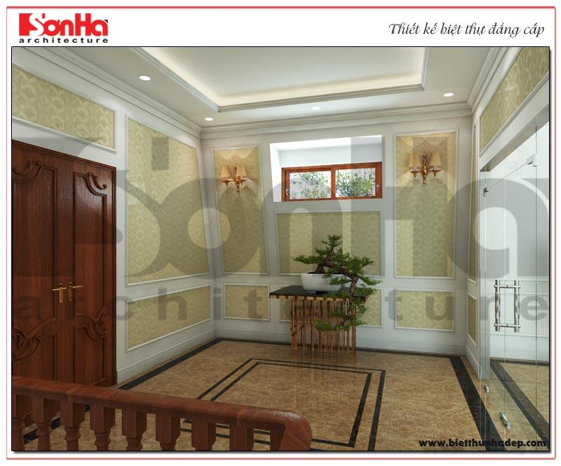 Phương án thiết kế sảnh thang biệt thự đẹp rất được lòng gia chủ