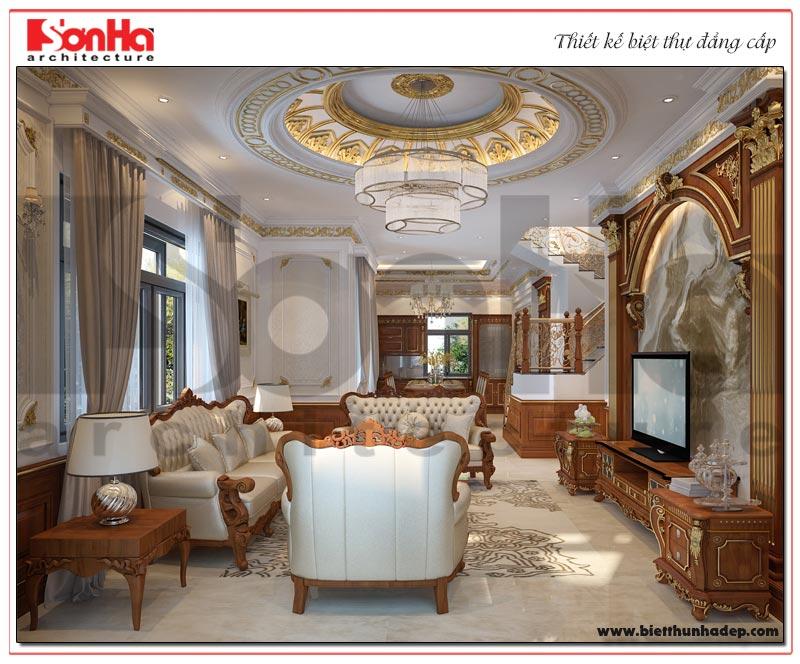 Sử dụng nội thất gỗ tự nhiên mang đến cho không gian phòng khách vẻ đẹp sang trọng và cuốn hút nhất