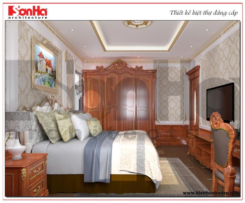 Không gian phòng ngủ thiết kế đơn giản, nhẹ nhàng theo nguyện vọng của gia chủ