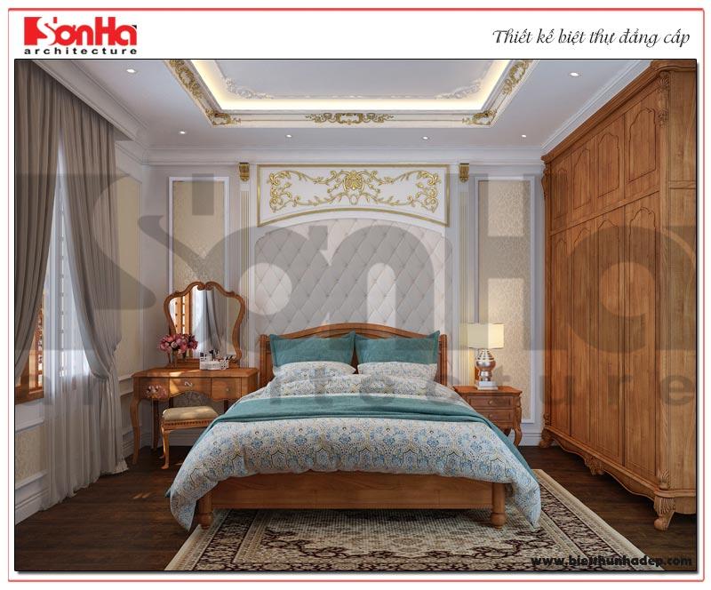 Thiết kế nội thất phòng ngủ biệt thự phong cách tân cổ điển tại Sài Gòn