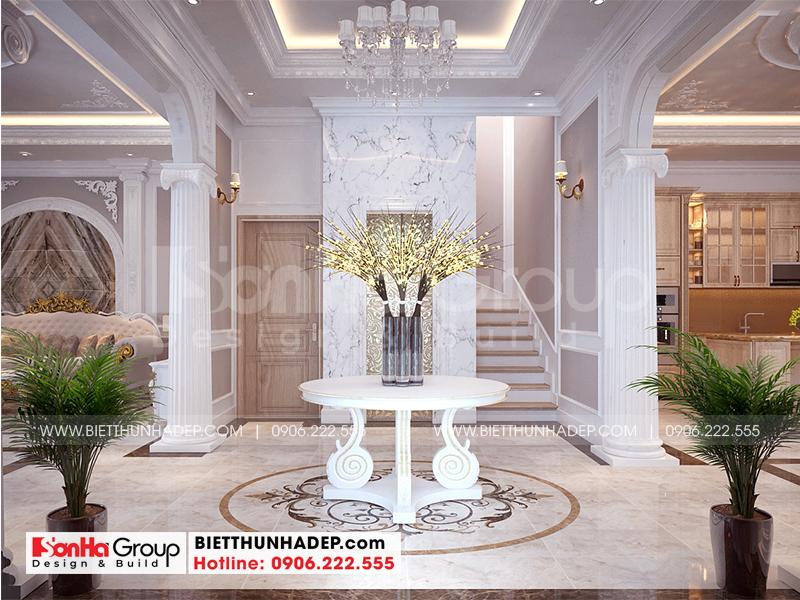 Thiết kế không gian sảnh thang theo phong cách tân cổ điển tinh tế được chủ đầu tư đánh giá cao