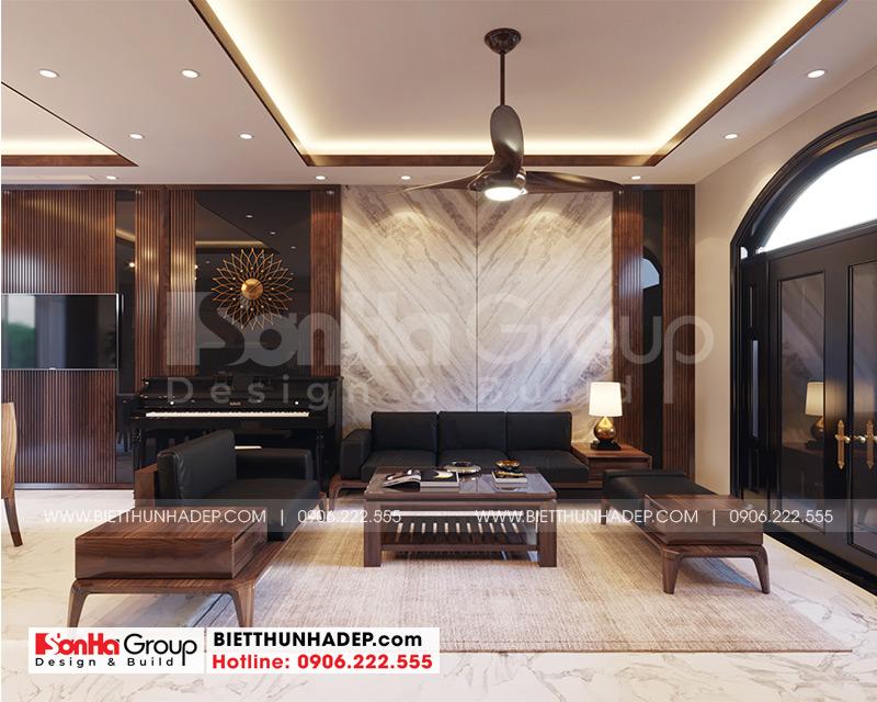 1 Cách trang trí nội thất phòng khách biệt thự khu đô thị vinhome imperia hải phòng vhi 005