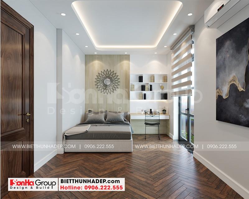 Mẫu thiết kế phòng ngủ ấn tượng với cách bố trí thoáng đãng và mạch lạc