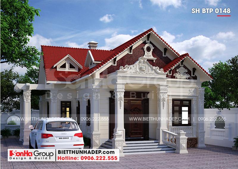 Thiết kế kiến trúc biệt thự tân cổ điển sở hữu 2 mặt tiền đẹp, khang trang tại Hải Phòng