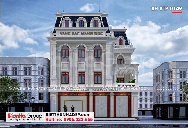 Phối cảnh kiến trúc biệt thự tân cổ điển diện tích 15m x 20m tại Hải Phòng