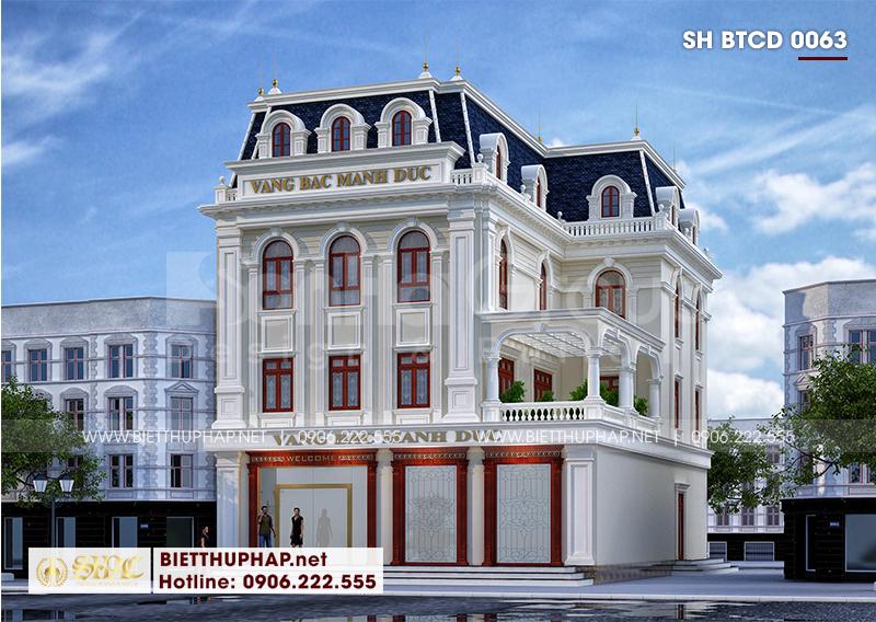 Phối cảnh kiến trúc biệt thự 3 tầng mang đậm hơi hướng tân cổ điển tinh tế đến từng tiểu tiết